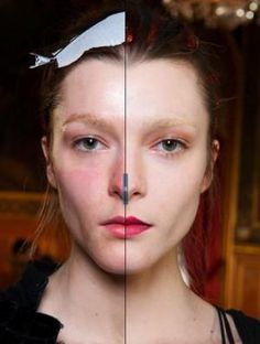 Models with and without make up | LUUUX