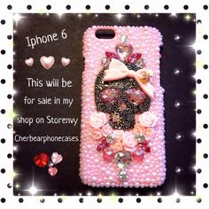 Pink girly gothic iPhone 6 case from my shop on Storenvy-Cherbearphonecases  Check out my Instagram gallery @cchobbo to see all of my cases!