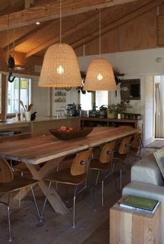 long, communal dining tables are amazing! We love making our own wood x-bases just like this, tailored to your needs!
