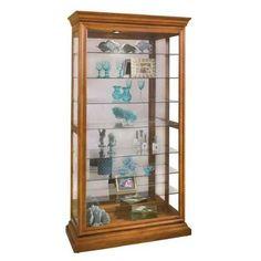 Lighthouse Manifestation - Wood Curio Cabinet