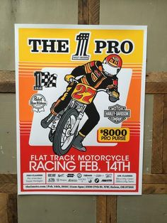 The 1 Moto Pro Flat Track Poster