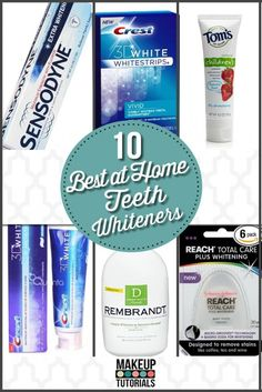 Beauty Products: 10 Best At Home Teeth Whiteners. Must have brands that really works. Beauty Tips and Tricks. | Makeup Tutorials http://makeuptutorials.com/makeup-tutorials-10-best-at-home-teeth-whiteners/