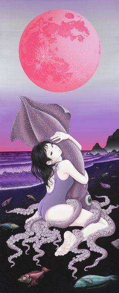 """今年もギャラリー椿さんよりアート台北に出品させて頂いております。昨年は""""蛸""""、今年は""""烏賊""""でございます。どうぞよろしくお願い致します。http://www.art-taipei.com 森口裕二"""