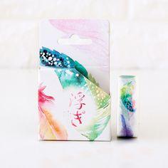 1.5cm*8m Fresh Colorful Feather washi tape DIY decoration scrapbooking planner masking tape adhesive tape kawaii stationery gift