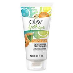 Olay Fresh Effects Clear Skin Acne Hater Deep Scrub Salicylic Acid Acne Treatment Deep Scrub 150ml (5.0 FL. OZ.)