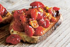 Find the recipe for Honey-Roasted Cherry Tomatoes and other condiment recipes at Epicurious.com
