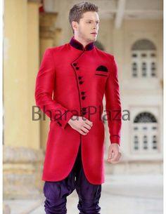 Emperor Look Indo Western Sherwani Baju India Muslim, Oriental Fashion, Oriental Style, Royal Fashion, Mens Fashion, Sherwani, Indian Ethnic, Online Clothing Stores, Emperor