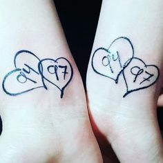 So today I took my little sister's tattoo virginity. We went and got matching tattoos with our birth years in them. I know lots of people will say it's so lame.  But you know what..it doesn't matter what they think. This tattoo has meaning behind it.