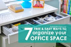 Superb Free And Easy Ways To Organize Your Office Space #organization #office #desk