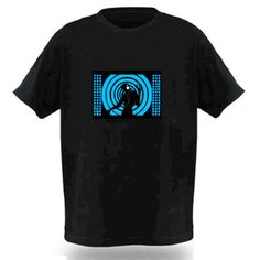 Electro-Luminescent Led Shirt With Music Activated Music ...
