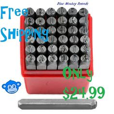 """1/4"""" Professional 36pc Letter & Number Stamp Punch Set - 6mm Hardened Steel - Metal, Wood, Leather"""