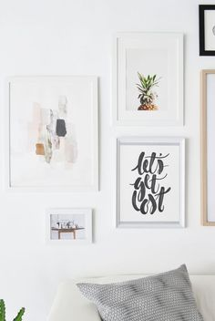 7 Rules for the Perfect Gallery Wall   Photography : Agata Dimmich / Passion shake Read More on SMP: http://www.stylemepretty.com/living/2016/06/24/7-must-know-rules-for-creating-the-perfect-gallery-wall/