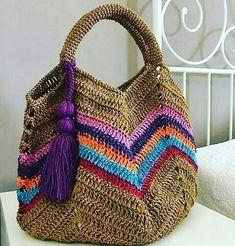 @gocmenfatmaa Crochet Beach Bags, Crochet Market Bag, Crochet Tote, Crochet Handbags, Crochet Purses, Bead Crochet, Crochet Baby, Crochet Stitches, Baby Shoes Pattern