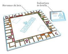 Le Monopoly pour malvoyants et non-voyants.