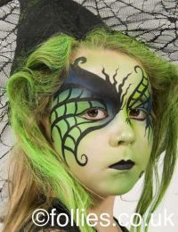 Follies images of face painting work - a witch