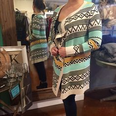 Aztec Print Sweater Worn Once - Nice Weight Sweater Sweaters Cardigans