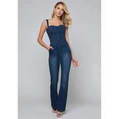 ecbe817a5252 Fashion denim jumpsuits for women deep v-neck sleeveless backless front  zipper slim jeans playsuits cowboy tank rompers SN-S3158 in 2019