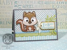 Annette's Creative Journey: Little Darlings Baby Card with Cricut cuties!