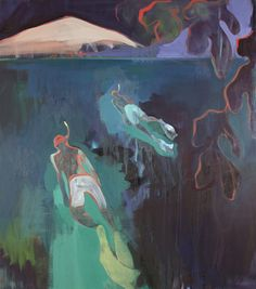 redlipstickresurrected:  Charlotte Evans (British, b. London, UK, Brooklyn, NY based) - Fins, 2014 Paintings: Oil on Canvas