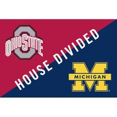 Michigan Wolverines vs. Ohio State Buckeyes 20'' x 30'' Indoor/Outdoor House Divided Mat  Sports Award Medals  Sports