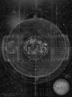www.complexitygraphics.com by Tatiana Plakhova / Print&Products: http://society6.com/product/tabula-selenographica_print#1=45
