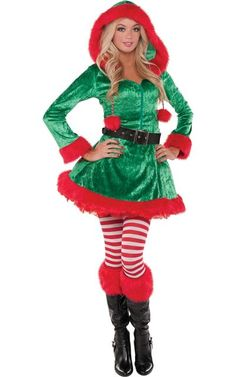 Funny Xmas Gift Santas Elves Womens Racerback Tank Top Christmas Elf Suit