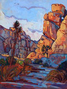 Joshua Tree Rocks California Desert Landscape Original Oil Painting Erin Hanson 30x40