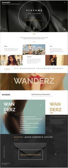 Wanderz diseño limpio e inspirador!
