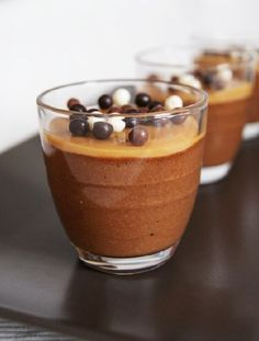 Vegetarian- Low FODMAP Recipe and Gluten Free Recipe - Salted caramel and chocolate mousse http://www.ibscuro.com/low_fodmap_dessert_salted_caramel_choc_mousse.html