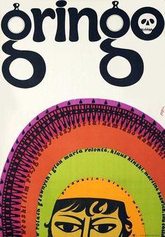 Vintage movie poster 1968 by Jerzy Flisak: Gringo