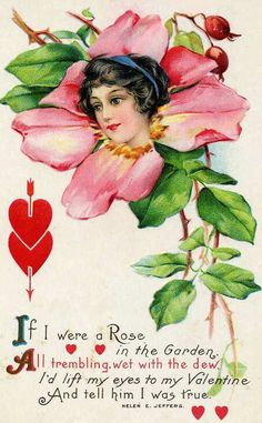 Shop Vintage Retro Victorian Rose Valentine Card created by kinhinputainwelte. Personalize it with photos & text or purchase as is! My Funny Valentine, Valentine Images, Valentines Greetings, Vintage Valentine Cards, Vintage Greeting Cards, Valentine Day Crafts, Love Valentines, Vintage Postcards, Vintage Images