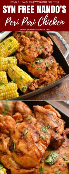 This is the Ultimate Syn Free Nando's Peri Peri Chicken Fakeaway - a truly mouthwatering delicious meal you can create at home. Gluten Free, Dairy Free, Slimming World and Weight Watchers friendly Slimming World Fakeaway, Slimming World Dinners, Slimming World Chicken Recipes, Slimming World Recipes Syn Free, Slimming World Diet, Slimming Eats, Slimming World Lunch Ideas, Slimming World Desserts, Nandos Chicken Recipe
