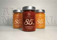 Geodi 85% marmalades and jams packaging