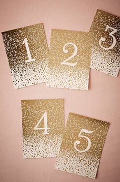 Pretty table numbers for weddings + parties