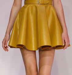 leather skirt Jumpsuit Dress, Dress Skirt, Skater Skirt, Gareth Pugh, Second Skin, Real Leather, Dress Making, Style Inspiration, My Style