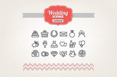 Check out Hand drawn wedding icons by miumiu on Creative Market