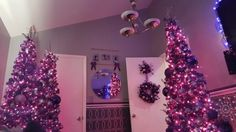 Purple Christmas forest