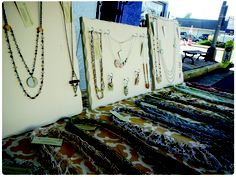 Celebrated Lady Necklaces on display at the Millville Arts, Music, and Antiques Festival. www.celebratedlady.com