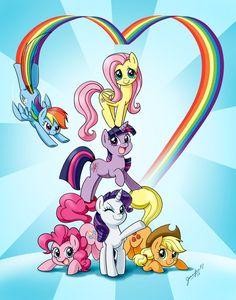 #399768 - applejack, artist:chibi-jen-hen, fluttershy, mane six, pinkie pie, rainbow dash, rarity, safe, twilight sparkle - Derpibooru - My Little Pony: Friendship is Magic Imageboard