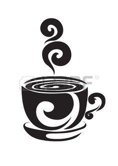 Orange tazza da caffè o di tè su un supporto, al di sopra di una tazza di riccioli coppia curl Archivio Fotografico