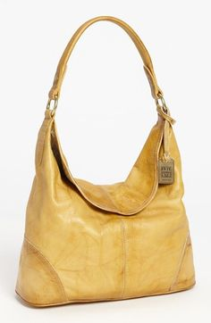 Uh oh. I see a new bag in my future! Frye 'Campus' Hobo. Antiqued leather with a lived-in look maximizes the cool quotient of a slouchy hobo fashioned with a curved magnetic lip and O-ring strap.