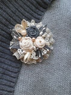 Top Tips, Tricks, And Methods For Your Perfect fabric flowers Denim Flowers, Lace Flowers, Fabric Flowers, Fabric Flower Brooch, Fabric Flower Tutorial, Textile Jewelry, Fabric Jewelry, Jewellery, Brooches Handmade