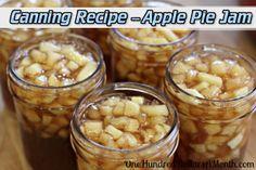 Canning Recipe – Apple Pie Jam  Read HERE ---  http://www.livinggreenandfrugally.com/canning-recipe-apple-pie-jam/