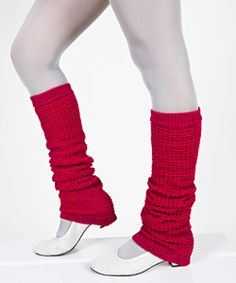 These were seen in the movie, fame. Leg warmers were part of work out wear. Dancers even wore these.