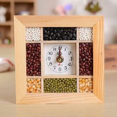 4021 eight beans wall clock, fine grain wall clock, moral good wishes, watches, home decoration