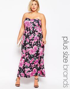 AX Paris Plus Rose Print Maxi Dress