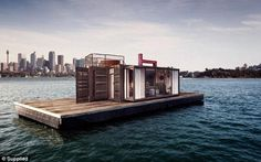 The exclusive Spontaneity Suite docked on Sydney on Thursday and patrons lucky enough to secure a booking are transported to a secret location