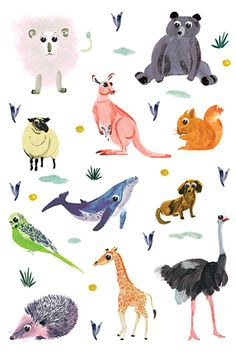 Poolga - Animals - Charline Picard #iPhone Wallpaper