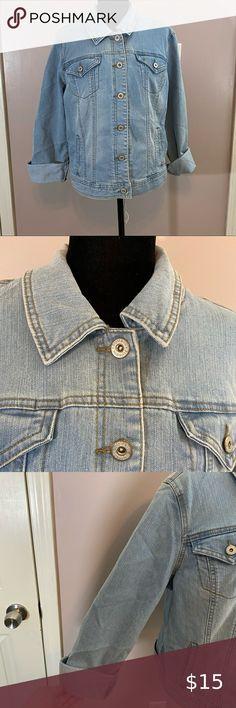 Zara womens blue washed denim cropped jacket casualwear  size XS S M new