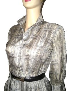 Vintage 50s LANGLEY England Pale Silver Grey by DaniellesVintage